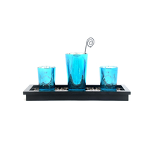 Divine with Tray Votives Gift Set of 3, SeaGreen
