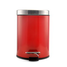 5 Litre Dustbin - @home By Nilkamal, Red