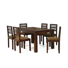 Andorra 6 Seater Dining Kit With Cushion - @home Nilkamal,  brown