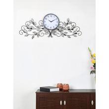 Crystal Tree Wall Clock - @home by Nilkamal, Black