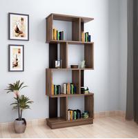 Checkers 4 Tier Book Shelf, Walnut