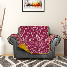 Printed Sofa Cover, Fushcia, 3 seater