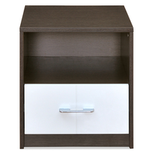 Berry Night Stand - @home Nilkamal, Walnut and White