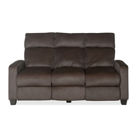 Gloria 3 Seater Sofa with 2 Manual Recliners - @home by Nilkamal, Choco Brown
