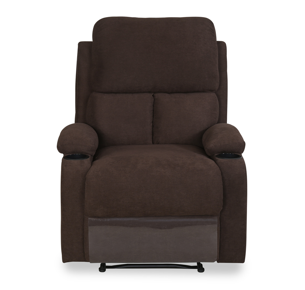 Matt 1 Seater Manual Recliner with Cup Holder - @home by Nilkamal Chocolate  sc 1 st  home by Nilkamal & Buy Matt 1 Seater Manual Recliner with Cup Holder - @home by ... islam-shia.org
