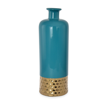 Enchanted Large Bottle Vase - @home by Nilkamal, Sea Green