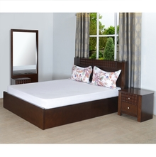 Rivera Queen Bedroom Set - @home by Nilkamal, Dark Walnut