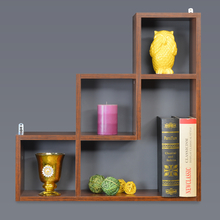 Ben Wall Shelf - @home by Nilkamal, Walnut