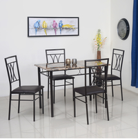 Kimmy 4 Seater Dining Set - @home by Nilkamal, Chocolate