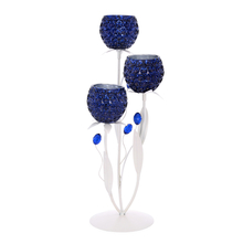 Table Votive Stand 3 Pieces - @home by Nilkamal, Indigo