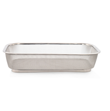 Stainless Steel Small Fridge Basket - @home by Nilkamal, Silver