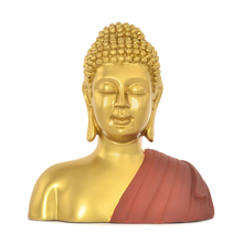 Buddha Bust Shrine Showpiece -@home by Nilkamal, Maroon