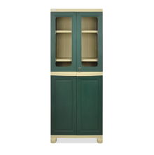 Nilkamal FB2 Freedom Cupboard - Olive Green and Pastel Green