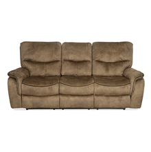Iris 3 Seater Sofa with Manual Recliner - @home by Nilkamal, Tuscan Brown