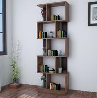 Checkers 5 Tier Book Shelf, Walnut
