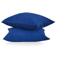 Moshi 60 cm x 60 cm Cushion Cover 2 Pieces - @home by Nilkamal, Blue