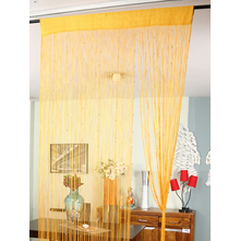 Beads Thread 100 cm x 229 cm Door Curtain, Rose Gold