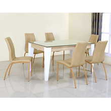 Baalbek 6 Seater Dining Set - @home by Nilkamal, White