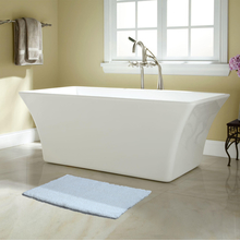 50'x80' Exotica Bathmat @home By Nilkamal, White