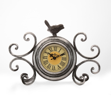 Birdy Table Clock - @home by Nilkamal, Brown