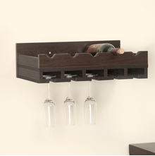 Bret Wine Rack - @home by Nilkamal, Dark Walnut