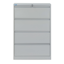 Nilkamal Retro 4 Drawer Filing Cabinet, Grey