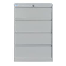 Nilkamal Retro 4 Drawer Filing Cabinet, Grey