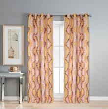 Digi Wave 112 cm x 274 cm XL Door Curtain Set of 2 -@home by Nilkamal, Brown