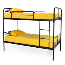 Metro Metal Ply Base Bunk Bed - @home By Nilkamal, Black