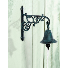 Hooked Small Door Bell - @home by Nilkamal, Brown & Cream