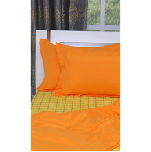 Checks 220 cm x 240 cm Double Bedding Set - @home by Nilkamal, Yellow