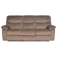 Rays 3 Seater with 2 Manual Recliners - @home Nilkamal,  brown