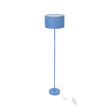 Floor Lamp with Drum shaped Shade - @home by Nilkamal, Blue