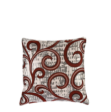 Scroll 30 cm x 30 cm Cushion Cover Set of 2 - @home by Nilkamal, Maroon