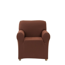 1 Seater Knit Sofa Cover, Brown