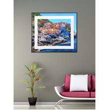 Scenic Italy 35 cm x 41 cm Painting - @home by Nilkamal, Sea Green