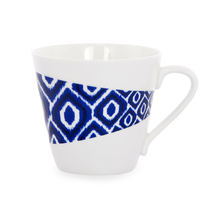 Ashley Tea Cups Set of 6 - @home by Nilkamal, Indigo & White