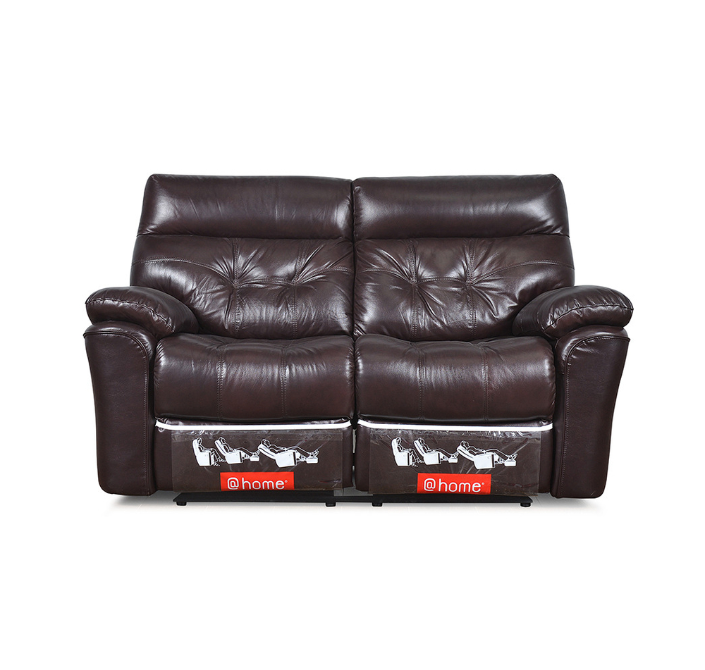 Beverly Two Seater Sofa With 2 Manual Recliners  @home Nilkamal, Burgundy