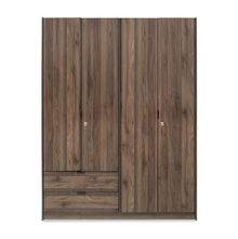 Avery 4 Door Wardrobe - @home by Nilkamal, Modi Wenge