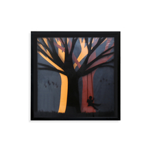 3D Kid on Swing of Tree Painting - @home by Nilkamal, Sea Green