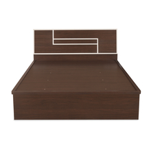 Maverick King Bed With Storage, Walnut