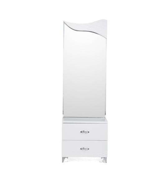 Vienna Dresser with Mirror - @home By Nilkamal, White