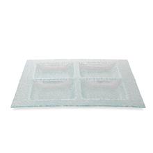 4 Sections Glass Platter - @home by Nilkamal