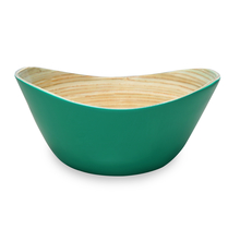 Spun 25 cm x 25 cm x 14 cm Bamboo Bowl - @home by Nilkamal, Sea Green