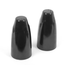 Glossy 8.5 x 4.5 cm Salt N Pepper Set -@home by Nilkamal, Black