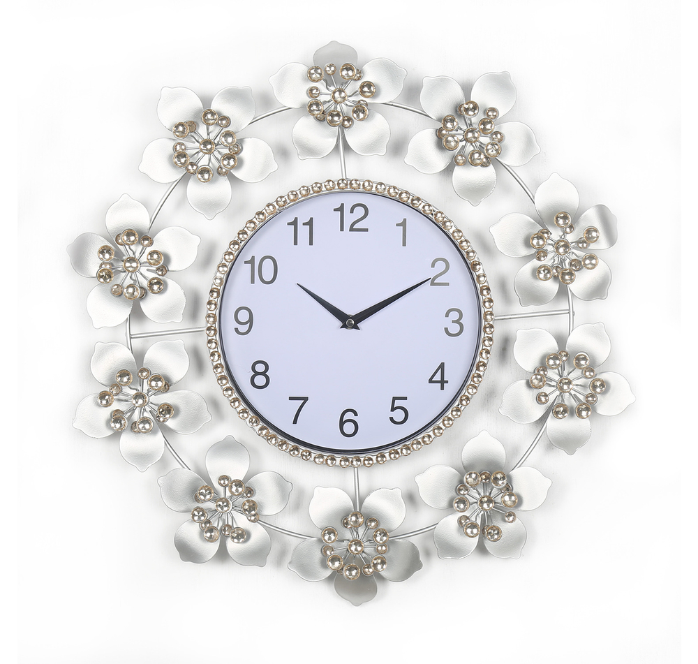 Buy floral delight crystal wall clock home by nilkamal online floral delight crystal wall clock home by nilkamal amipublicfo Choice Image
