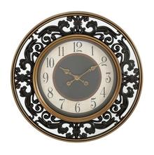 Antique Mirror Shine Wall Clock - @home by Nilkamal, Gold