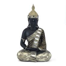 Butsu Dhyana Showpiece - @home by Nilkamal, Gold