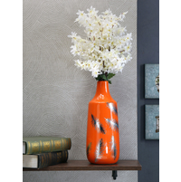 Delight Flower Feather Vase, Orange