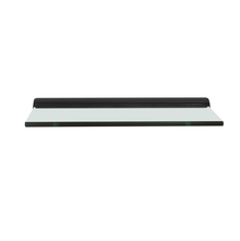 Tasha Wall Shelf (18 X 6) , Black Clear Glass